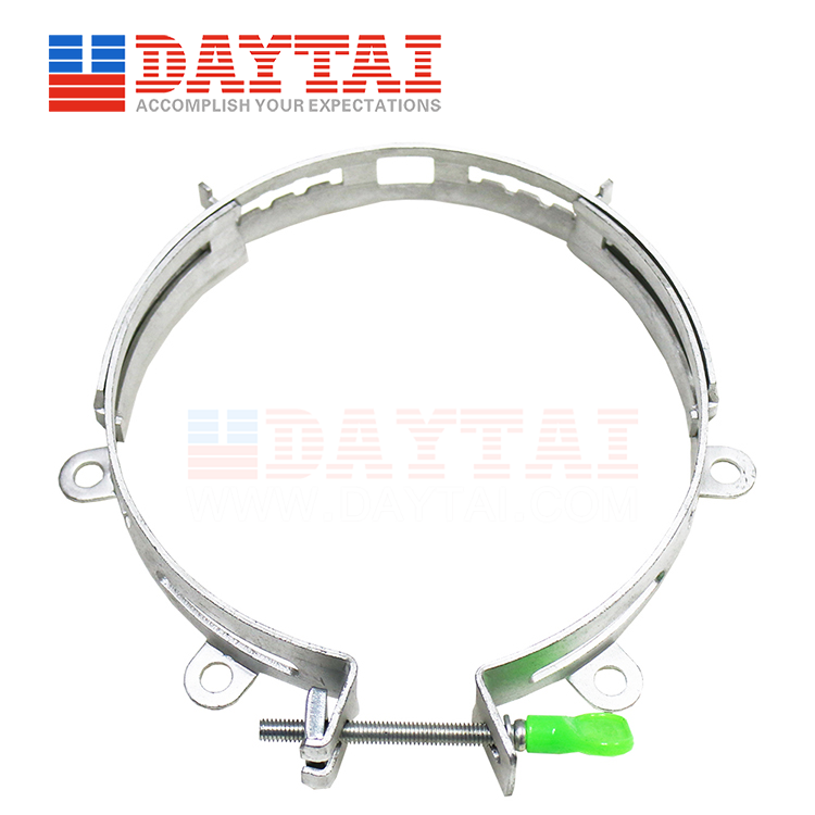 Adjustable Diameter Fixed  6PCS Holes Cable Telegraph Pole With Key Clamp-(DTLF-HOOP-6FA200MM)