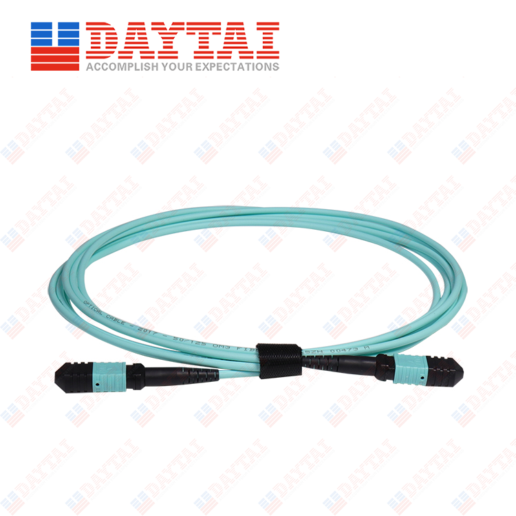 8Core MM OM3 300 Male to Female MPO Trunk Patch Cord