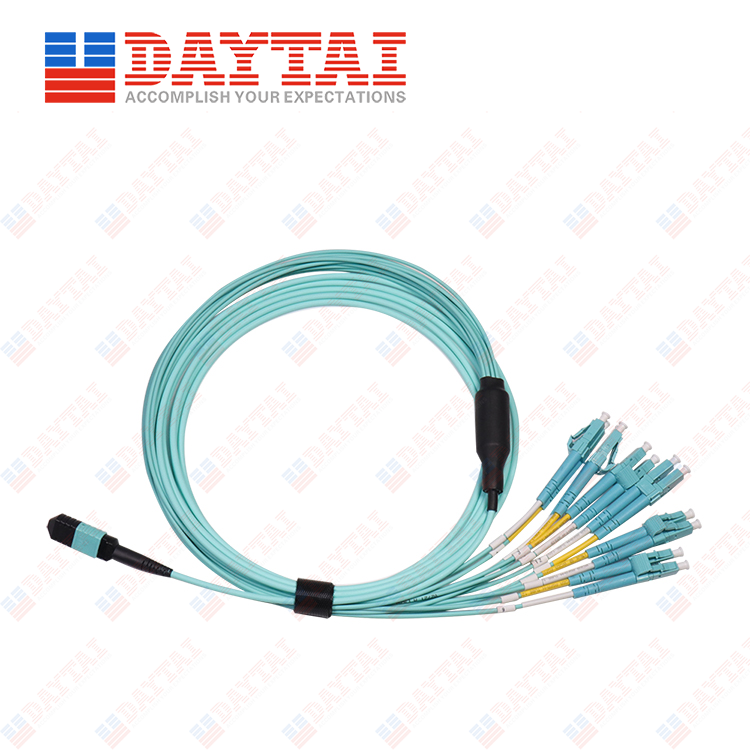 12Core MPO/UPC Female to LC/PC DX MM OM3 Fanout Hybrid Patch Cord