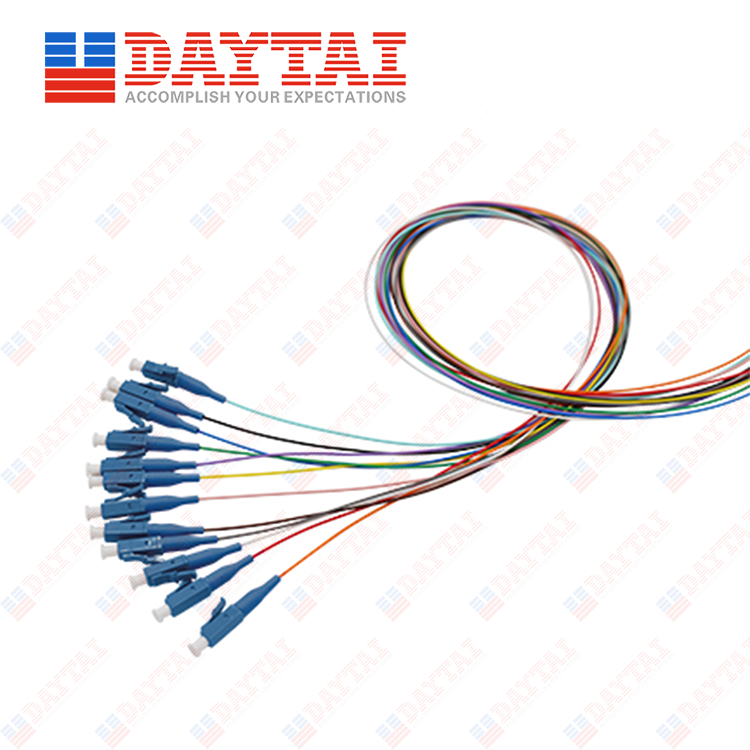 LC/UPC 12 Color Fiber Optic Pigtail