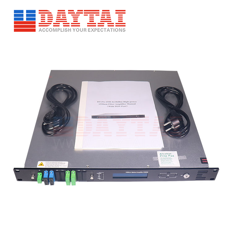 4 Way EDFA With WDM-(DT-PA1550-4x XXdBm)-SC/APC+SC/UPC-1U